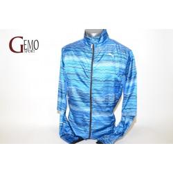Puma Graphic Lightweight pánska šuštiaková vetrovka strong blue modrá