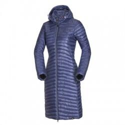 NORTHFINDER dámská bunda s imitací peří městský styl velmi dlouhá EMMELIN